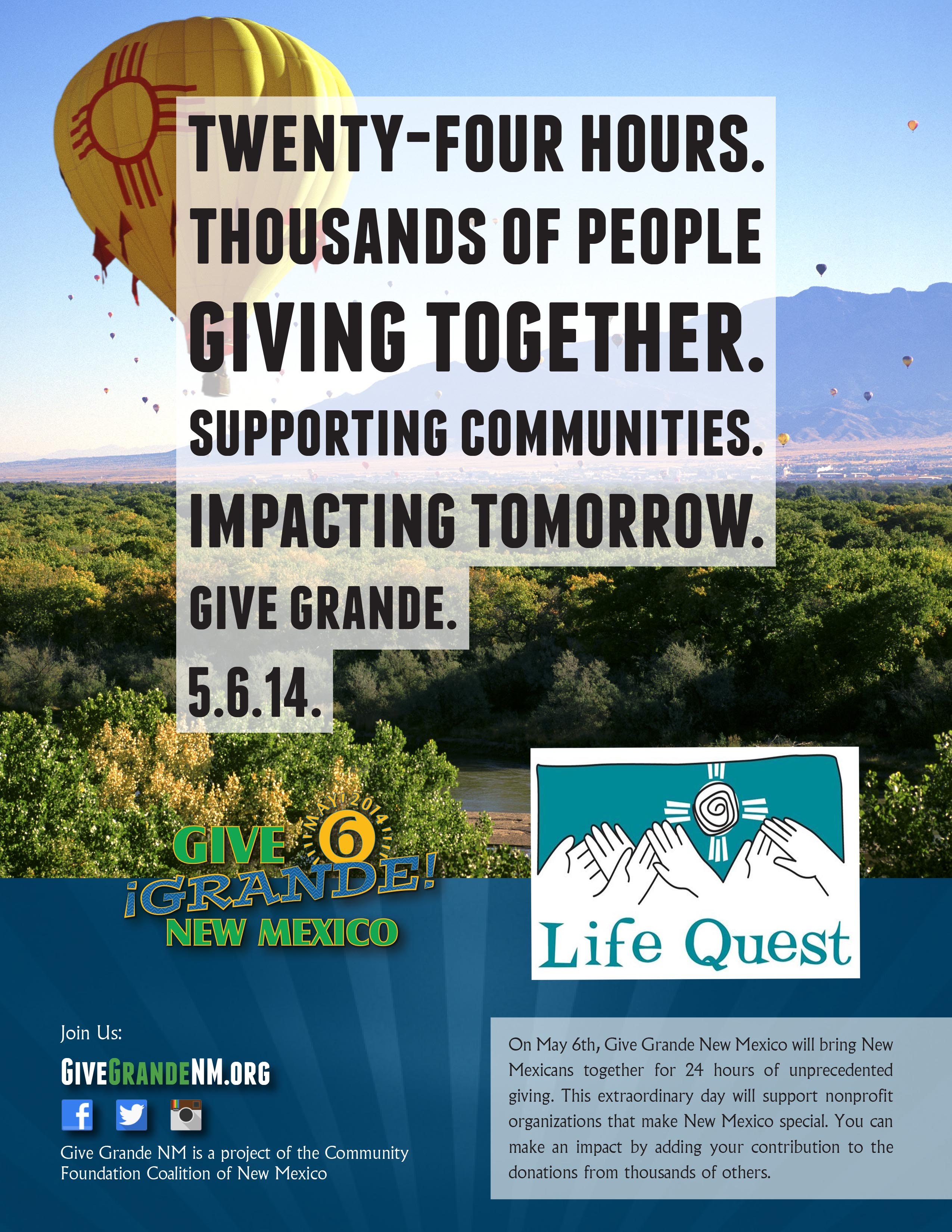 Give Grande Poster lifequest