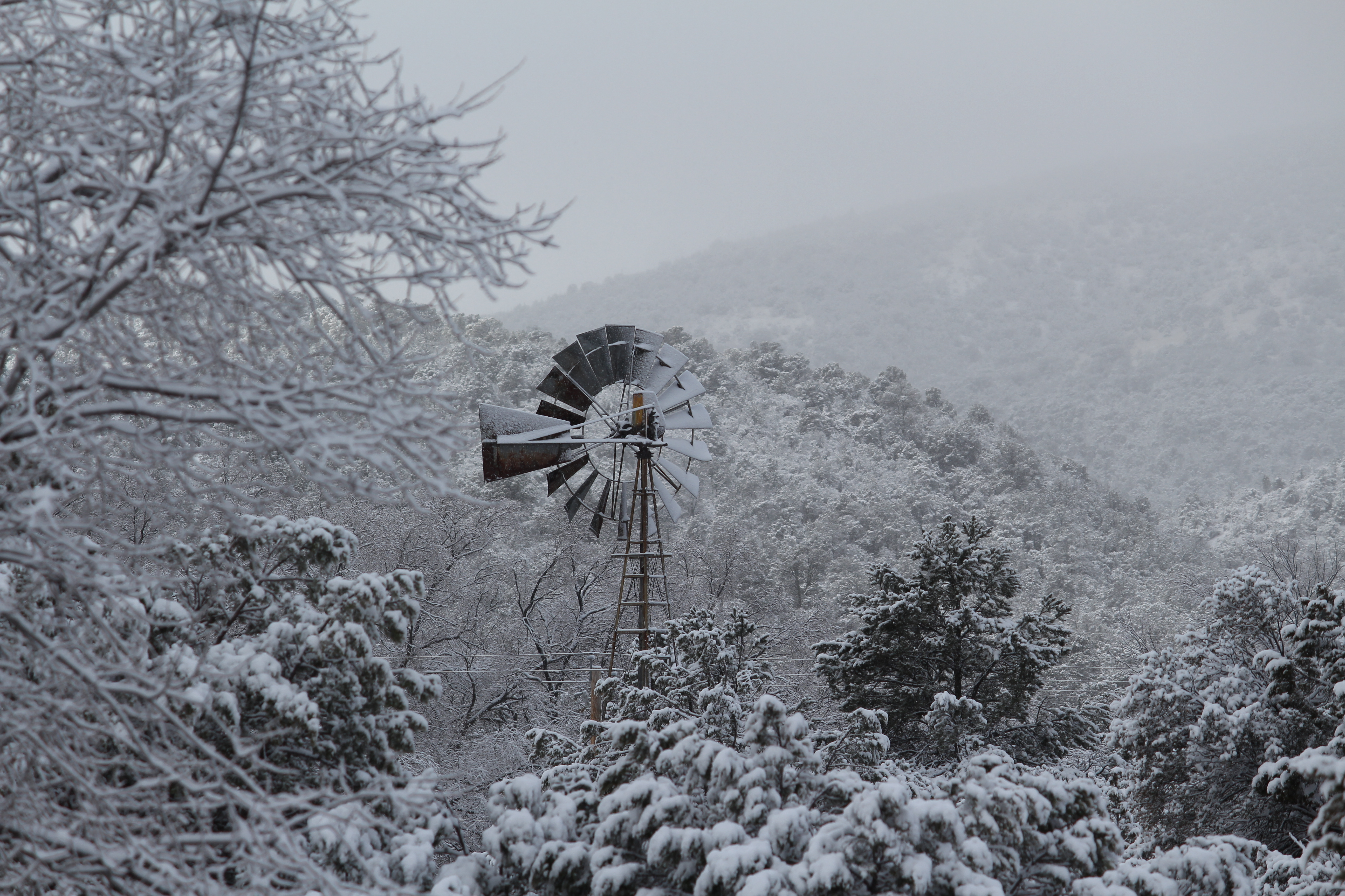Pictures from Silver City mountain area (2) Windmill on property