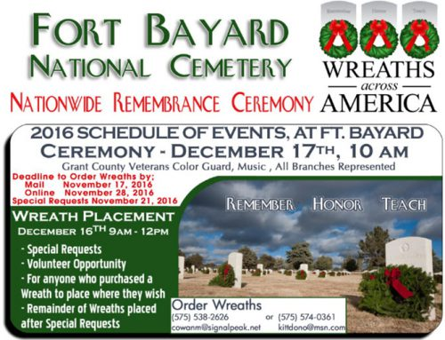 Wreaths Across America Day at Fort Bayard National Cemetery