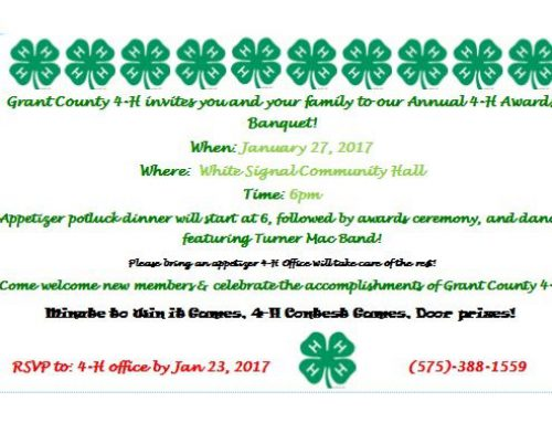 Annual 4-H Awards Banquet Coming Up
