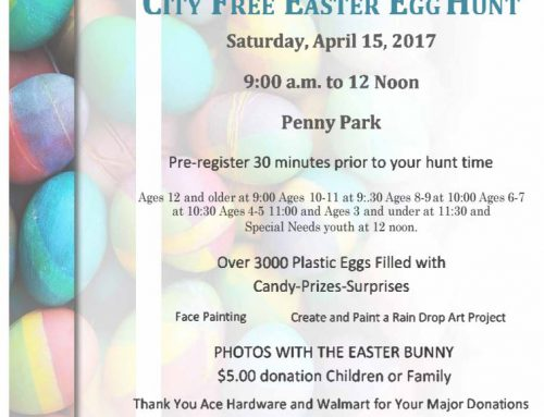 Kiwanis Easter Egg Hunt Tomorrow!