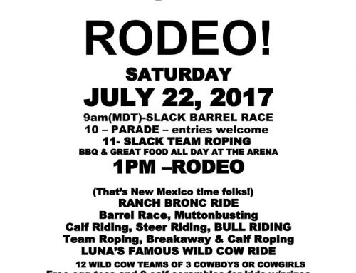The Luna Rodeo is happening this Saturday, July 22nd