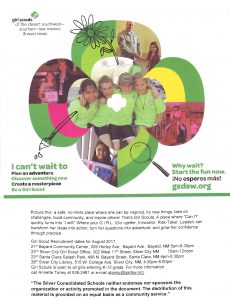 Girl Scout Recruitment Time Southwest NM