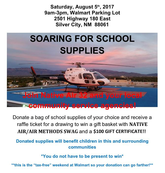 native air 32 school supply drive at walmart on saturday silver