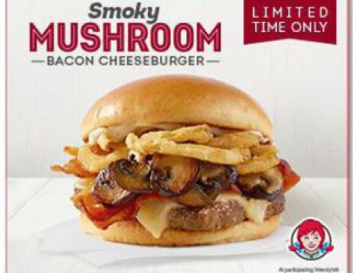"For a Limited Time! ""Wendy's Smoky Mushroom Bacon Cheeseburger"""
