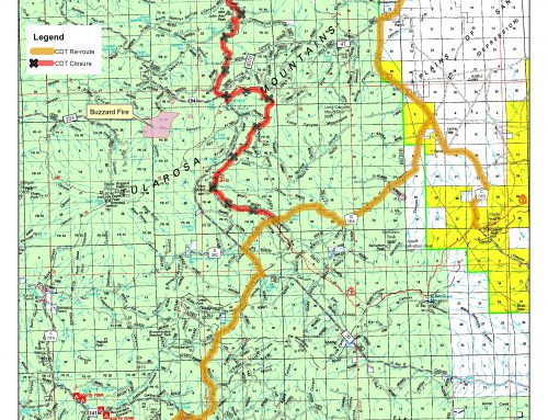 Buzzard Fire CDT Closure and Reroute