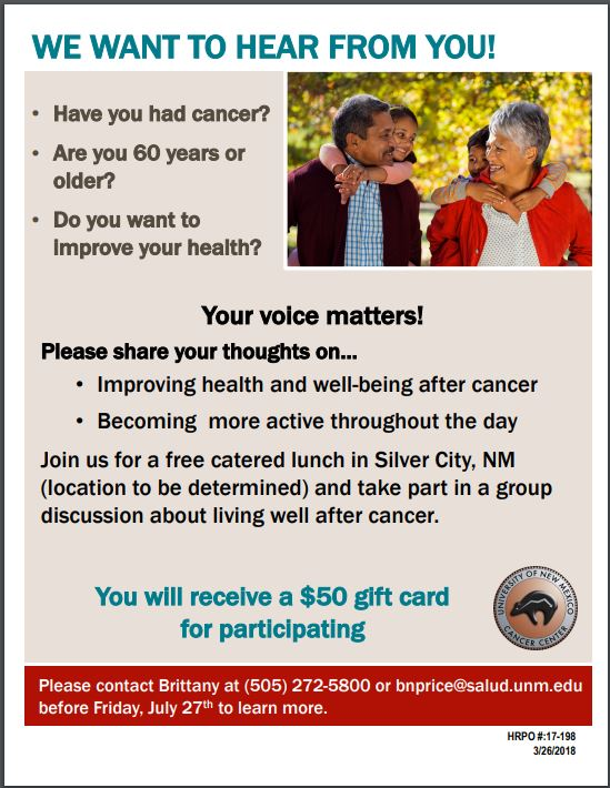 UNM Cancer Study: Your Voice Matters!