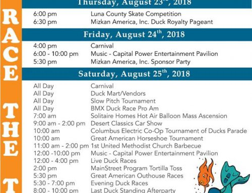 39th Annual Great American Duck Race: August 23rd – 26th, 2018