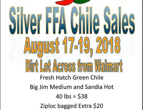 2018 Silver FFA Chile Sale!