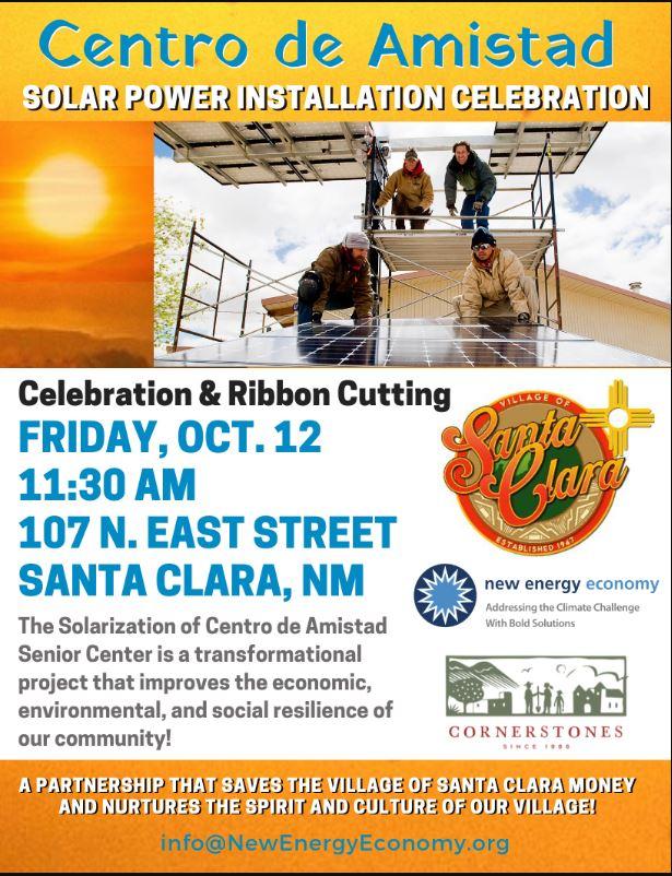 Centro de Amistad Solar Power Installation Celebration