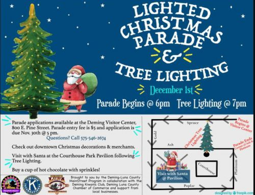 Deming Lighted Christmas Parade and and Tree Lighting Event – Friday, December 1st, 2018