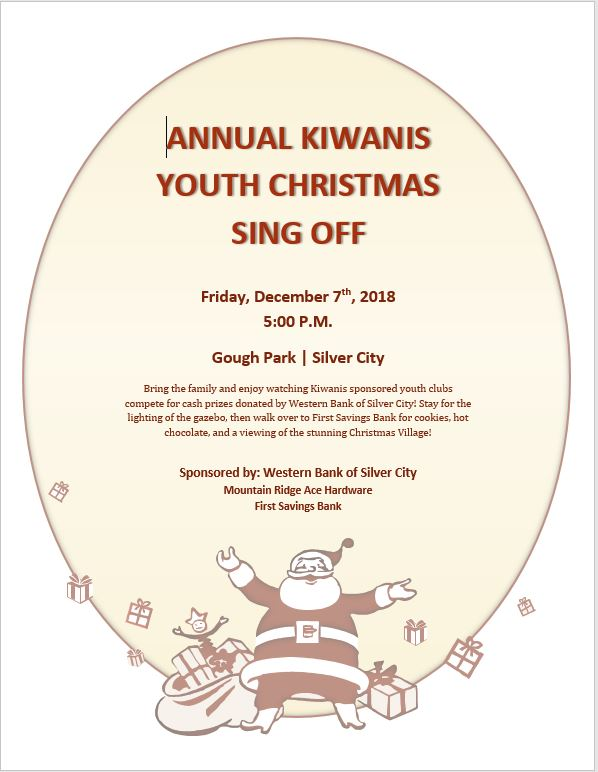Kiwanis Youth Holiday Sing Off