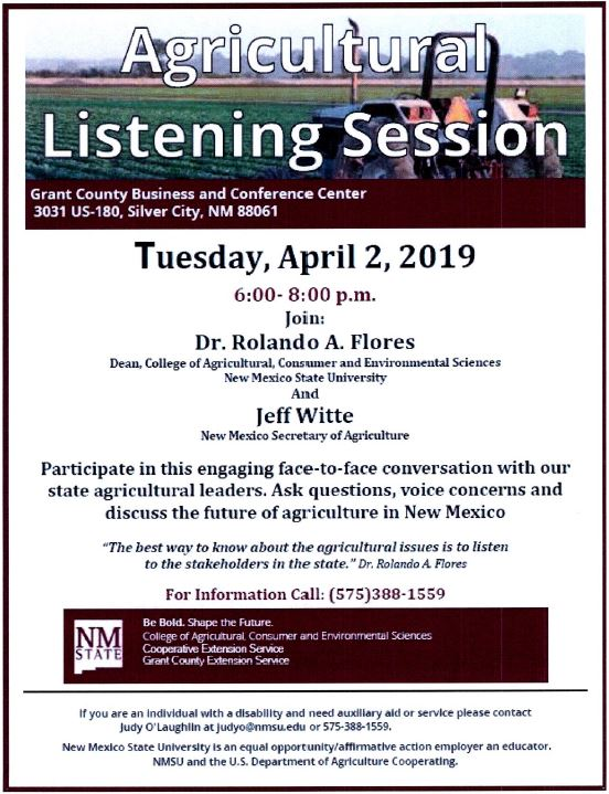 Agricultural Listening Session