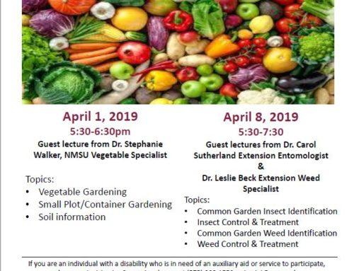 Grant County Gardening Workshop Series