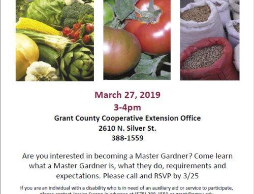 Master Garden Informational Meeting