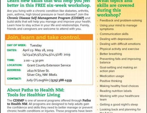Free Chronic Disease Self-Management Workshop