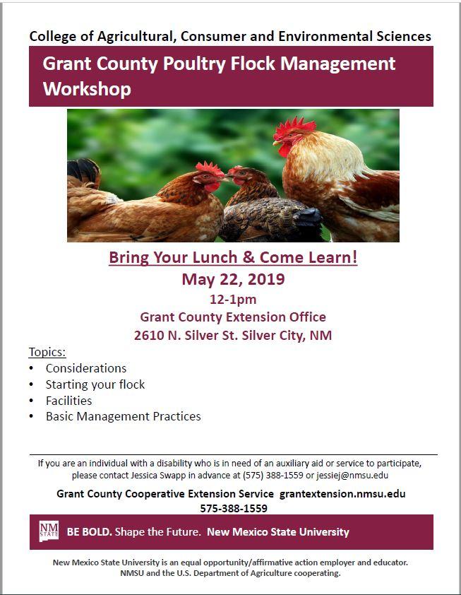 Grant County Poultry Flock Management Workshop
