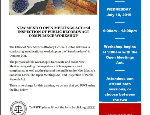 NM Open Meetings Act Workshop in Deming