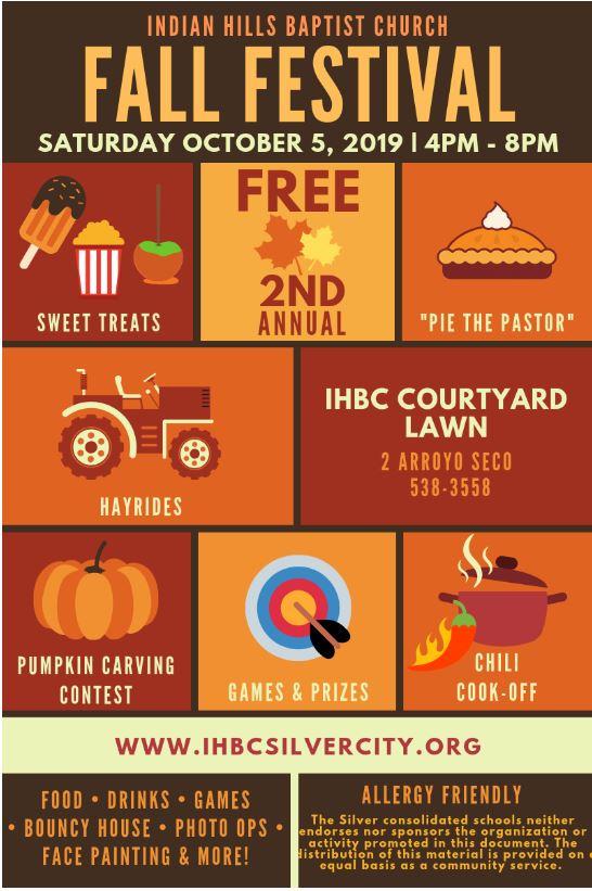 Indian Hills Baptist Church Fall Festival