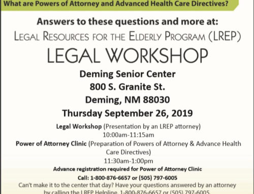 Legal Resources for the Elderly Legal Workshop