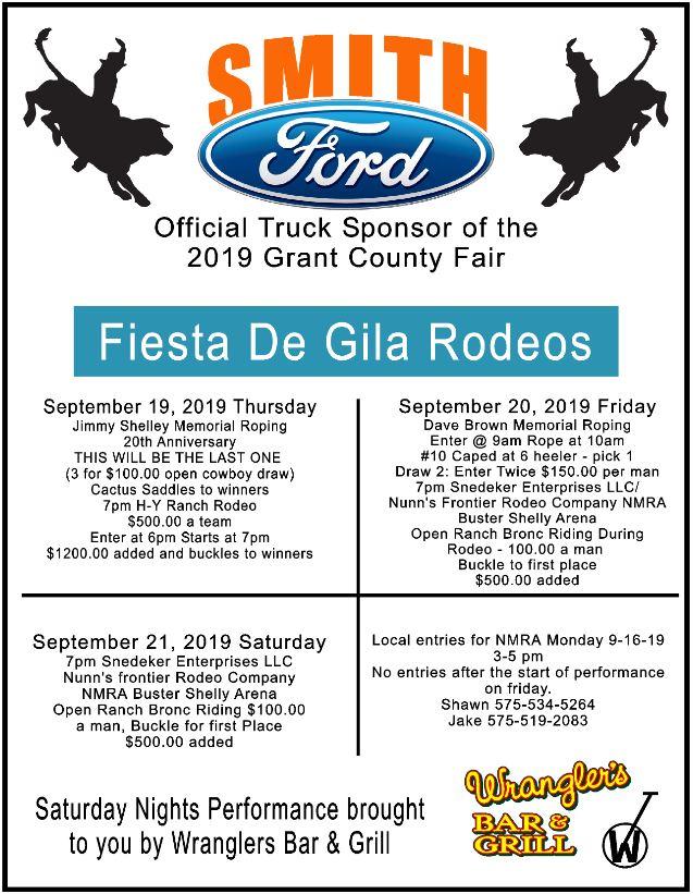 Grant County Fair Fiesta De Gila Rodeos