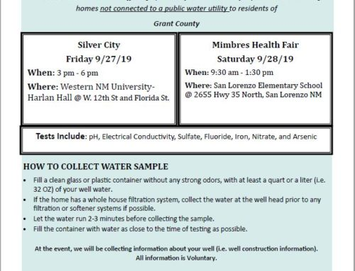 Free Private Well Water Testing in Grant County
