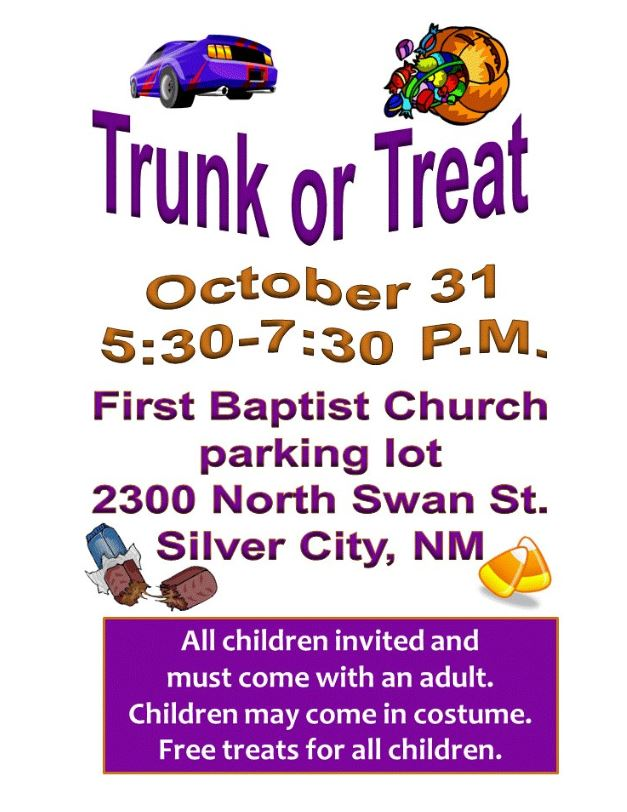 First Baptist Church Trunk or Treat
