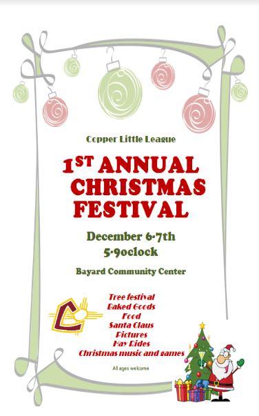 Copper Little League 1st Annual Christmas Festival