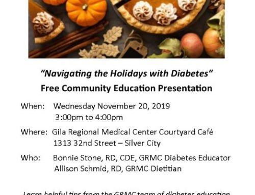 """Navigating the Holidays with Diabetes"" Free Community Education Presentation"