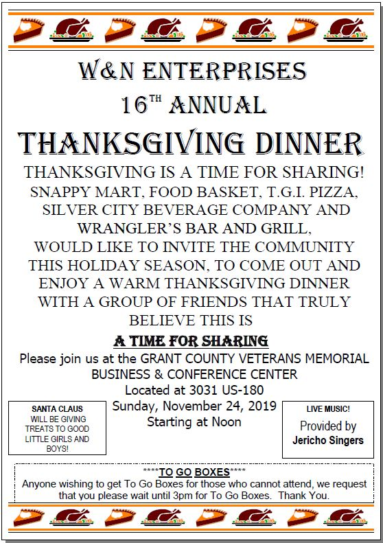 W & N Enterprises 16th Annual Thanksgiving Dinner