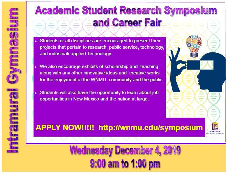 WNMU Academic Student Research Symposium/Career Fair