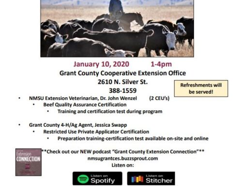 "Grant County Cooperative Extension Service ""Beef Quality Assurance & Private Applicator Program"""