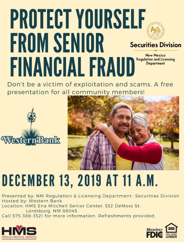 Senior Financial Fraud Presentation in Lordsburg