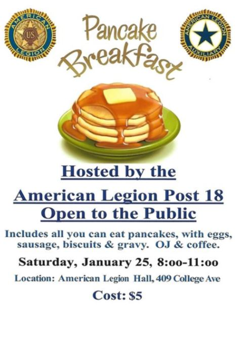 American Legion Pancake Breakfast