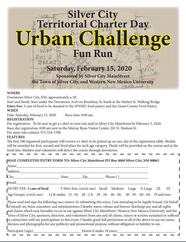 Silver City Territorial Charter Day Urban Challenge Fun Run