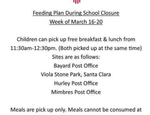 Cobre Consolidated Schools Meal Plan