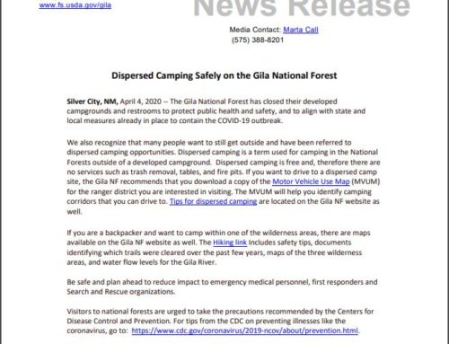 Dispersed Camping Safety in the Gila National Forest