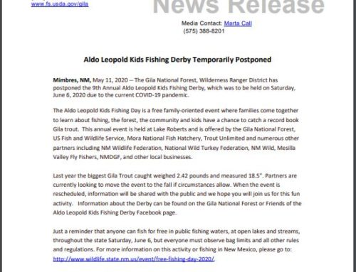 Aldo Leopold Kids Fishing Derby Temporarily Postponed