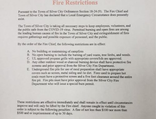Silver City Fire Restrictions