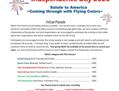 Chamber Independence Day Virtual Parade Entry Form