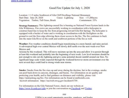 Good Fire Update as of July 1st, 2020