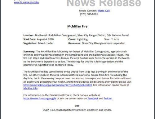 McMillan Fire Report