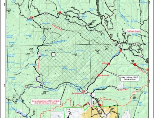 Tadpole Fire Temporary Health & Safety Closure Map