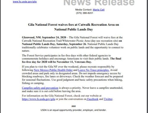 Fees Waived at Catwalk National Recreation Area