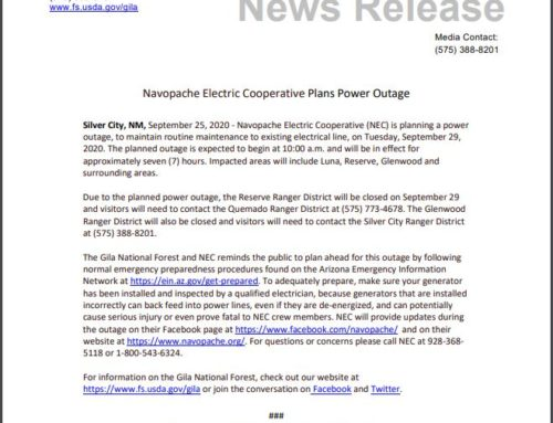 Navopache Electric Cooperative Planned Power Outage