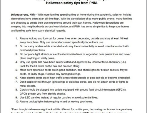 PNM Halloween Safety Tips