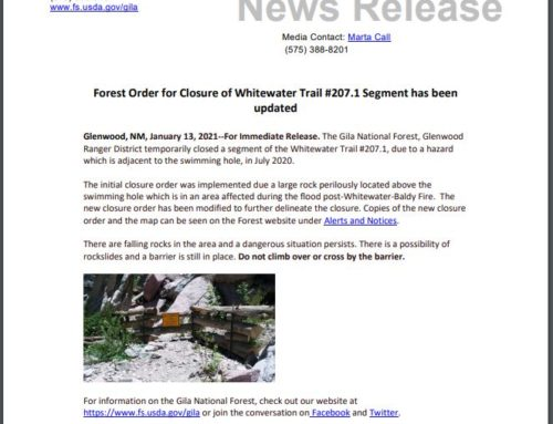 Forest Order/Closure Update