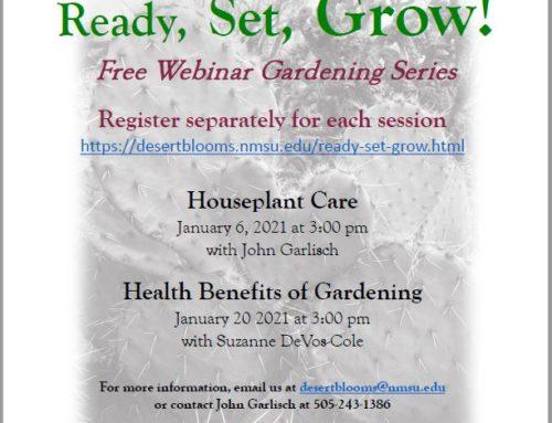 Free Webinar Gardening Series