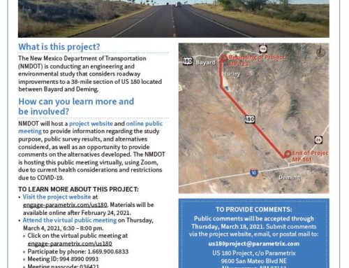 US Highway 180 Project Virtual Meeting