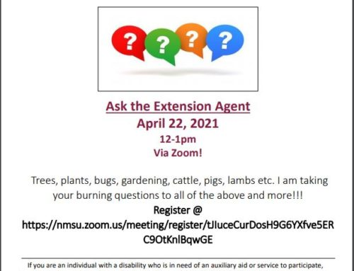 Grant County Cooperative Extension Zoom Event